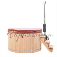 China Hand Made Wooden Barrel Northern Lights Cedar Hot Tubs 5 People Capacity wholesale