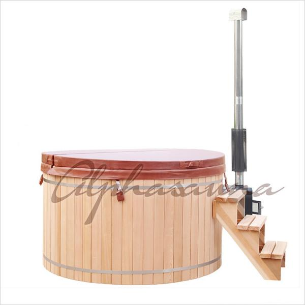 Quality Hand Made Wooden Barrel Northern Lights Cedar Hot Tubs 5 People Capacity for sale