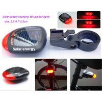 China Solar charging Bicycle tail lights wholesale