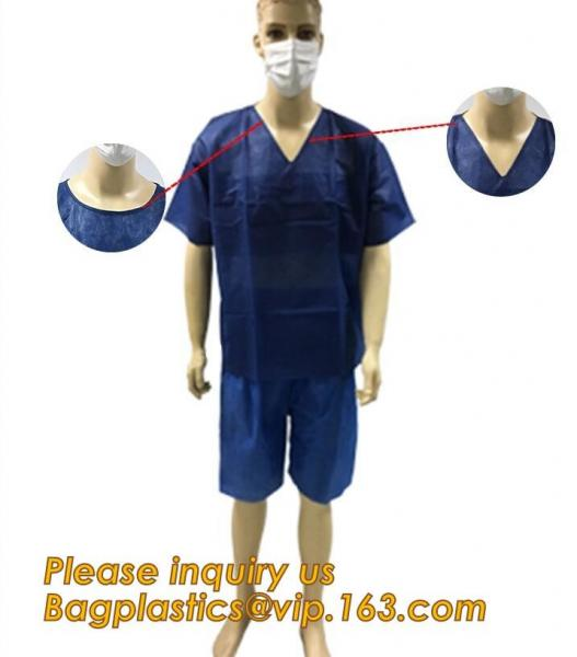 Quality Children Patient Gown/Surgical Gown With Short Sleeve,  Disposable Nonwoven Surgical Gown For Medical/Hospital nurse doc for sale