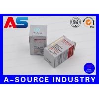 Metallic Silver Foil 325g Paper 10ml Vial Box For Anabolic Steroids / Stimulants