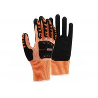 China Industrial Impact Cut Proof Work Gloves TPR Back Knitted Wrist Cuff wholesale