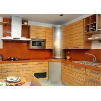 China Red / Black Solid Wood Kitchen Cabinets With American Standard Sink And Faucet wholesale