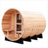 Outdoor 7foot by 7 foot for 3-4 Person Red Cedar Barrel Sauna Room With Harvia Elecrical sauna heater