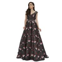 China Normal V Neck Middle Eastern Style Dresses / Long Prom Party Dresses wholesale