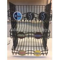 China Snack Food Retail Store Fixtures Counter 3 - Layer Candy Display Shelf With Metal Wire wholesale