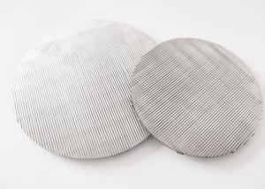 China SS304 0.25mm Slot Precision 50 Micron Stainless Steel Mesh Round Shape wholesale