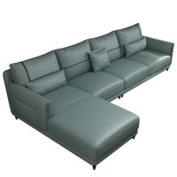 China Fabric Modern Sectional Living room Sofa leather wood frame with factory price wholesale
