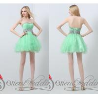 China Strapless Mini Homecoming Dresses Beading Crystals / Sequins wholesale