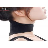 China Black Self-Heated Tourmaline Magnetic Keep Warm Relief Neck Pain Neck Brace Support wholesale