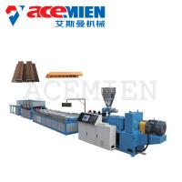 China PVC Door Sheet Wood Plastic Composite Production Line Optional Power Durable on sale