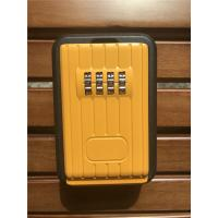China Digital Combination Outdoor Door Key Safe Box Black & Yellow wholesale