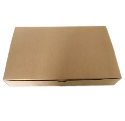 Quality Customized Garment Packaging Boxes One Piece Brown Kraft Paper Packing Box for sale