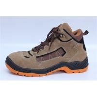 China suede leather safety shoes steel toe cap safety work boots PU injection 9078 wholesale