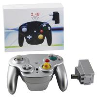 China Wifi 2.4GHz Wireless Wired Gamecube Controller ABS Material Silver Color For NGC on sale