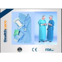 China SMMMS / SMMS Disposable Surgical Gowns Medical ScrubsAcid Proof Free Samples wholesale