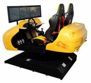 China Double-Seat Three-Screen 4d Dynamic Vehicle Simulator wholesale