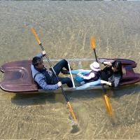 China Vacuum Forming Plastic Paddle Boat , Unbreakable Hard Shell Kayak For Competition on sale