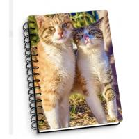 China Customize A4 A5 A6 Cover 3d Lenticular Notebook With Spiral For School / Office Supplies wholesale