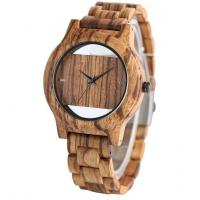 China new fashion real wood dial custom wooden watch band on sale