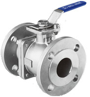 Quality JIS Flanged Two Piece SS Ball Valve for sale