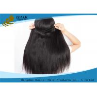 China Grade 7A Natural Black Straight Brazilian Virgin Human Hair Weft for Sale wholesale