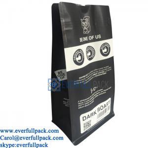 China Matt Laminated Zip Lock Custom Size Packing Custom Color Printing Box Bottom Coffee Bag Wholesale on sale