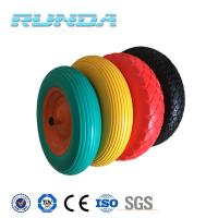 China 6 inch to 16 inch diameter any color solid pu industrial wheels wholesale