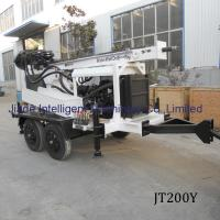 Jt200y 200m Best steel Portable Trailer Mounted Small Drilling Rigs