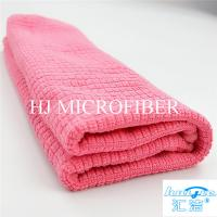 "China Microfiber Cleaning Cloth Towel Weft Knitted Cloth For Kitchen Red Color 16"" Washing Tools wholesale"
