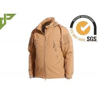 China Khaki Military Tactical Jackets Polyester Soft Shell Waterproof for Women / Men wholesale