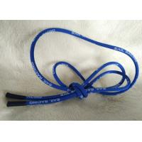 China Soft / Matt Silicone Ending Zipper Cord With 2.5mm Cotton String wholesale