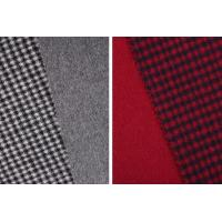 China STOCK Houndstooth 70% Wool 30% Polyester Double Faced Fleece Fabric For Coats wholesale