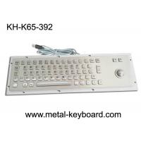 China Ruggedized Industrial Metal SS Keyboard with Trackball For Accuate Pointing Device wholesale