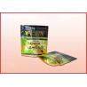 Stand Up Herbal Leaves Printed Ziplock Bags Resuable Aluminum Foil