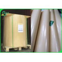 China Water Resistant 40gsm PE Coated Kraft Paper 90cm Roll In Brown & White wholesale