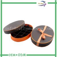 Customized Cotton Ribbon Oval Chocolate Gift Boxes with Paper Divider
