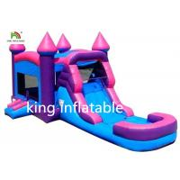 China Pink Girl Gaint Infltable Bounce House Dry Slide Commercial With CE Blower wholesale