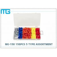 China Electrical Terminal Assortment Kit 158pcs , 5 Types Crimp Terminal Kit SP Connector wholesale