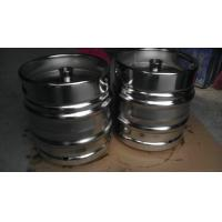 China Stackable 30 Litre DIN Keg Mirror Polish With Engraved Logo Customized Thickness wholesale