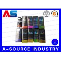 China Recycled  Injection Card Board Boxes 10ml Vial Boxes For Serum  Kit wholesale