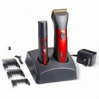 Rechargeable and Cordless Men's Grooming Set, Includes Nose Trimmer and Hair Clipper with Stand