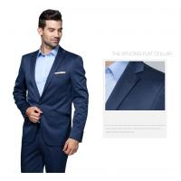 China Single Breasted Lapel Flat mens business suits with one button wholesale