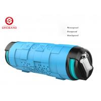 China Silicone + Metal Blue Portable Bluetooth Speaker For Hands - Free Phone Call wholesale