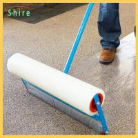 China Floor Carpet Protection Film Transparent Printable Self Adhesive Protective Roll on sale