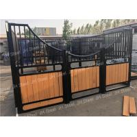 China Internal Portable Bamboo Board Horse Stable Panels Horse Box With Sliding Gate wholesale