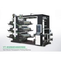 China Eco Friendly 6 Color Flexo Printing Machine , Industrial Fabric Six Color Printer wholesale