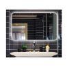China Square Light Up Vanity Mirror / OEM LED Frameless Bathroom Mirror wholesale