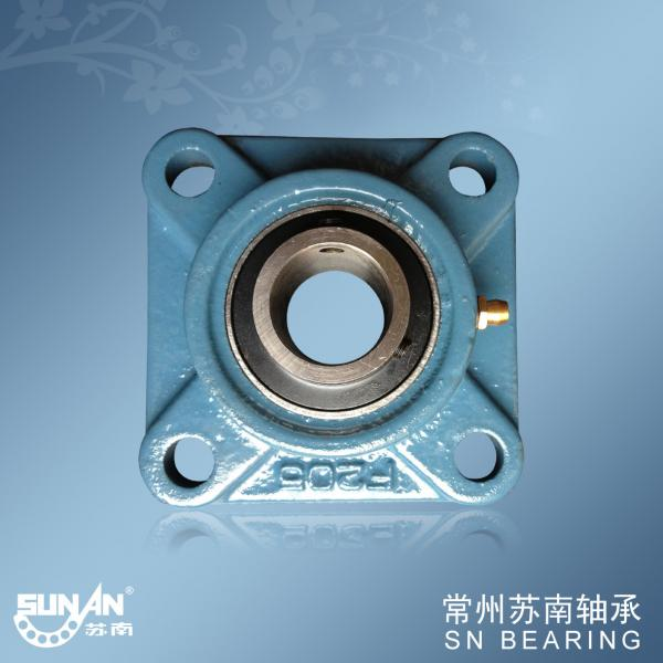 Quality F200 UCF205 Cast Iron Pillow Block Bearing With Flange , Mine Machinery Bearings for sale