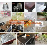 China Disposable Tablecloths Plastic Tablecloths Thicken Tablecloths White Film Transparent Waterproof Table Cloth BAGEASE on sale